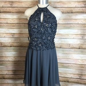 JVN By Jovani Grey Dress